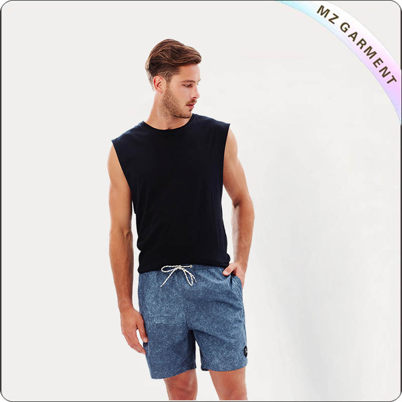 Men Jean Pattern Beach Shorts