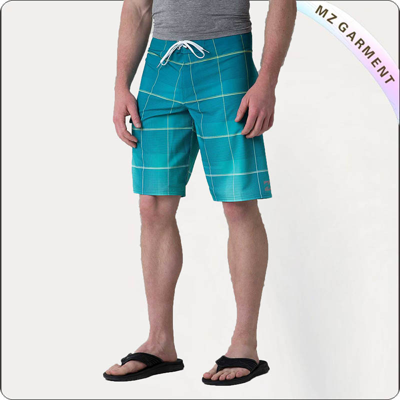 Men Plaid Bathing Trunks