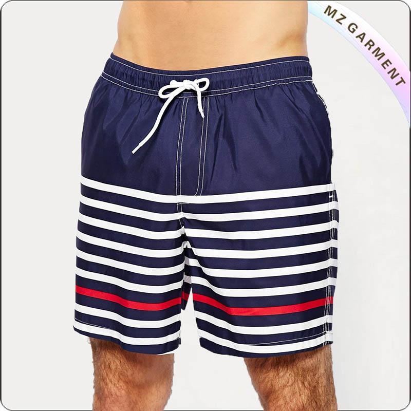 Men Tricolor Beach Short Pants