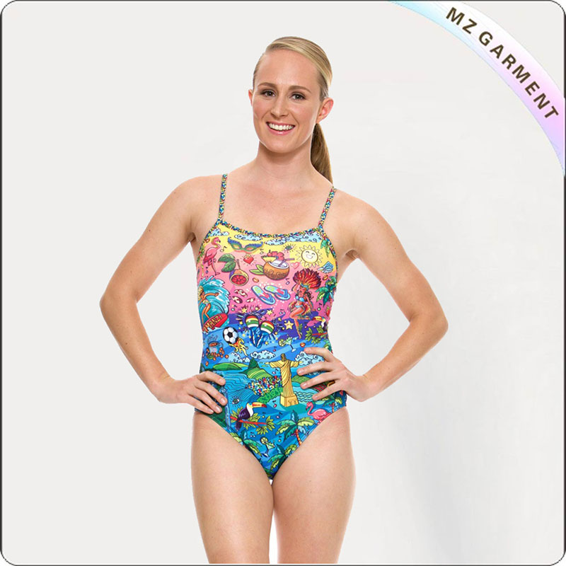 Adult Beach View Exercise Sport Costume