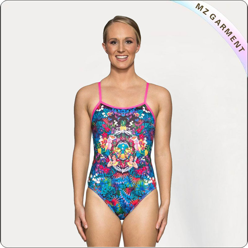 Adult Hawaiian Pattern Competitive Suit