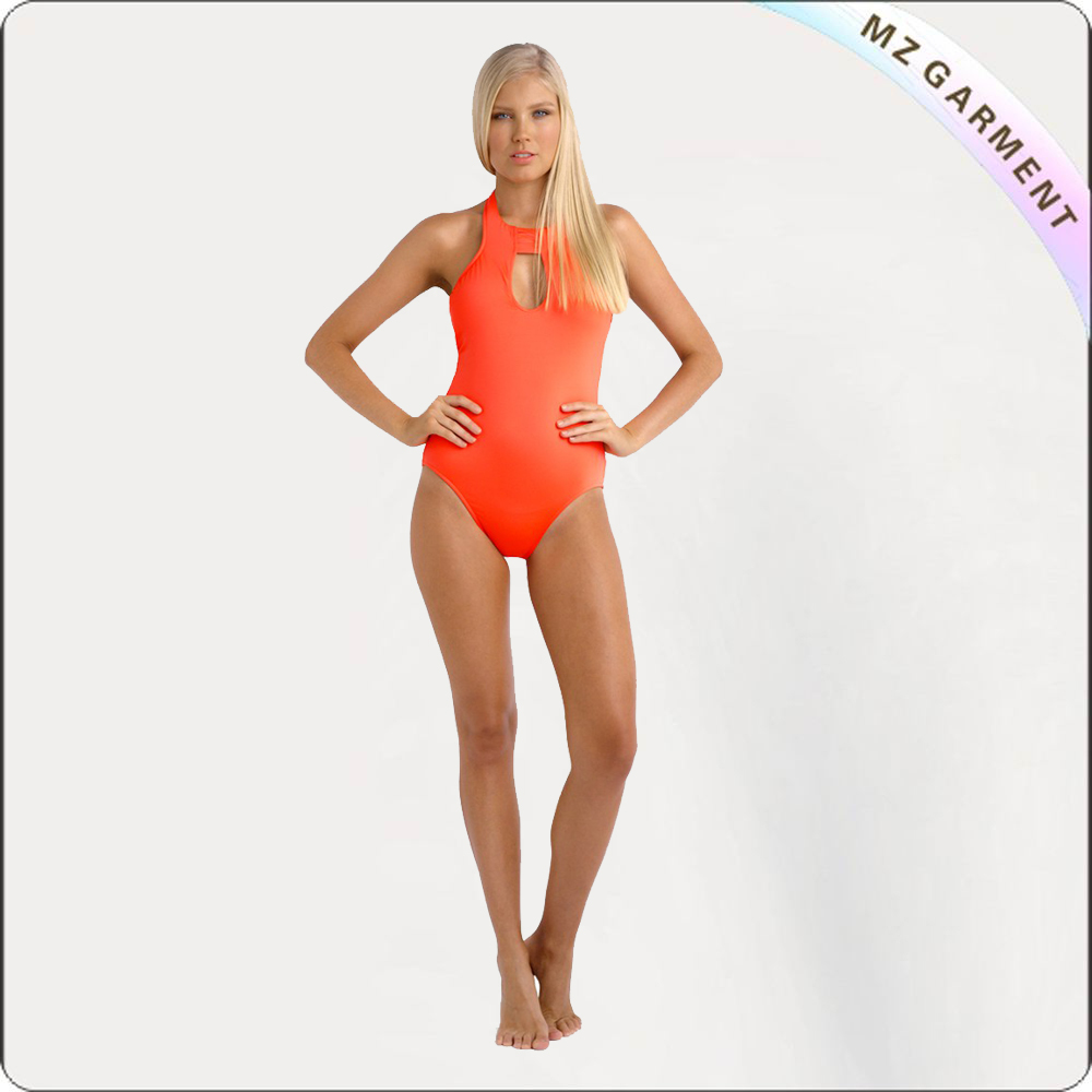 Adult One Piece Golden Swimwear