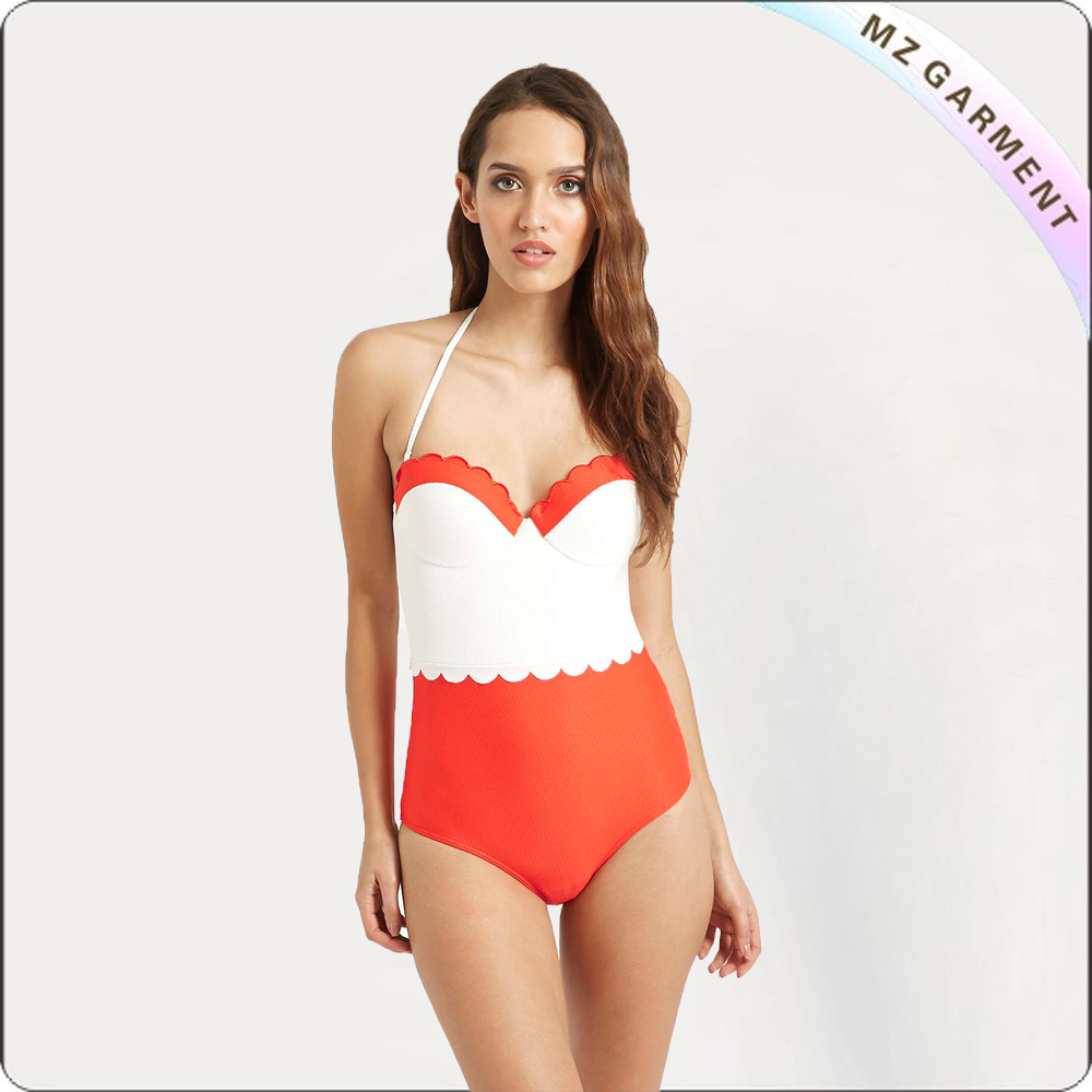 Adult One Piece Halter Swimwear