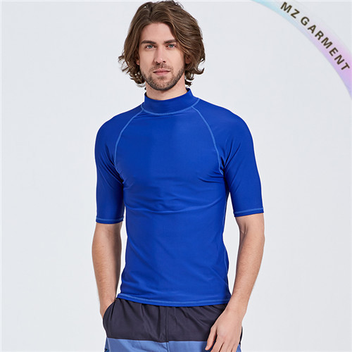 Half Sleeve Rash Guard Shirt, 80% Nylon, 20% Spandex, UPF 50+