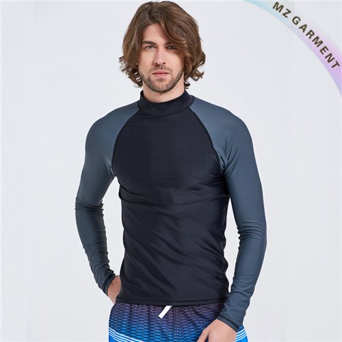 Long Sleeve Men Rash Guard, Nylon, Spandex Material, Custom Design