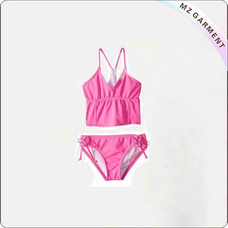 Girls' Cove Solid Bralette Bikini Set 82% Nylon 18% Spandex