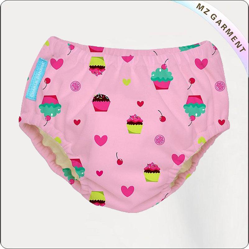 Baby Pink Aqua Diaper