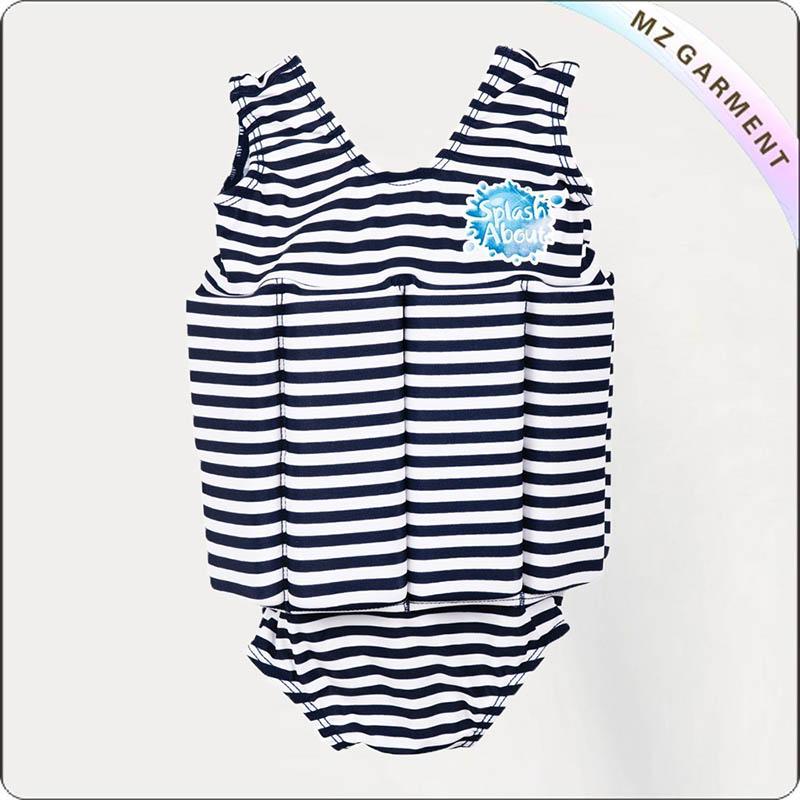 Infants Navy Stripe Floating Swimwear