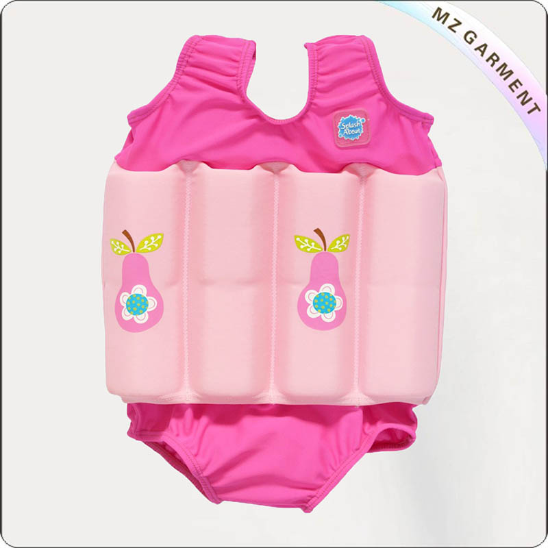 Kids Baby Pink Buoyant Swimsuit