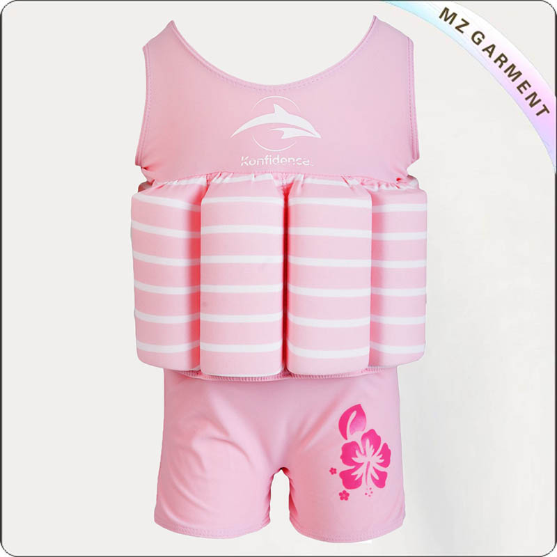 Kids Blossom Pink Toddler Float Suit