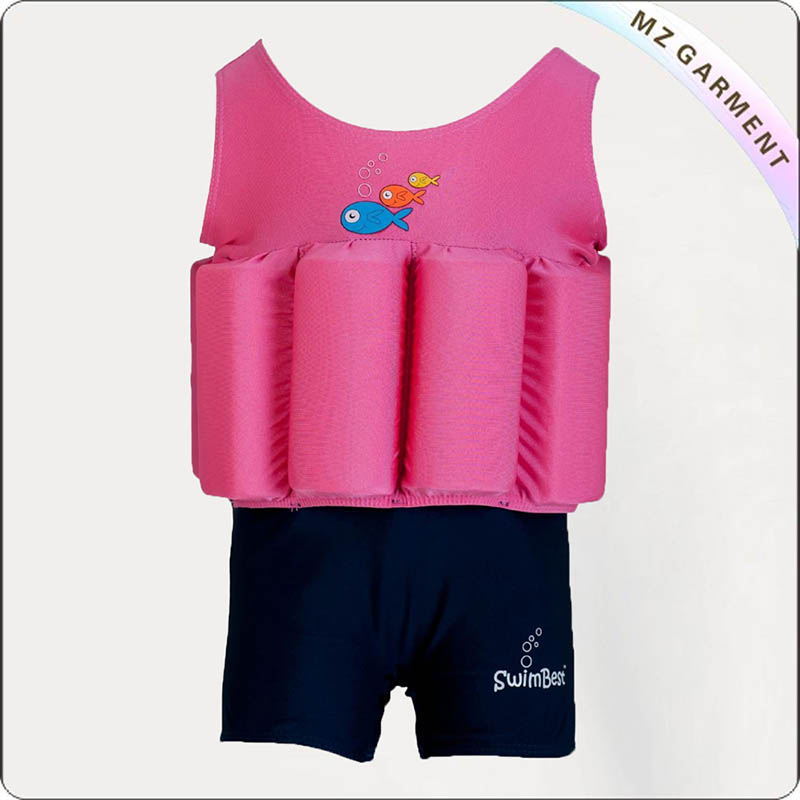 Kids Hot Pink Buoyant Swimwear