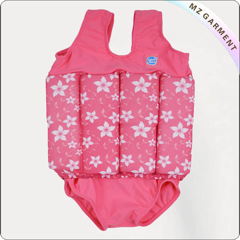 Toddler Oriental Red Floating Swimwear