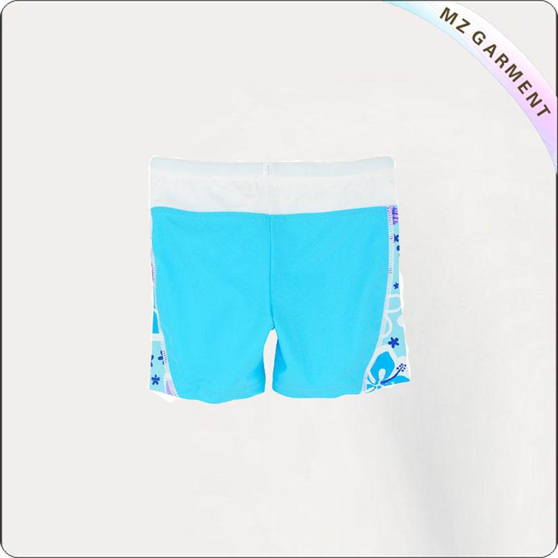 Girl Bluish Swim Shorts