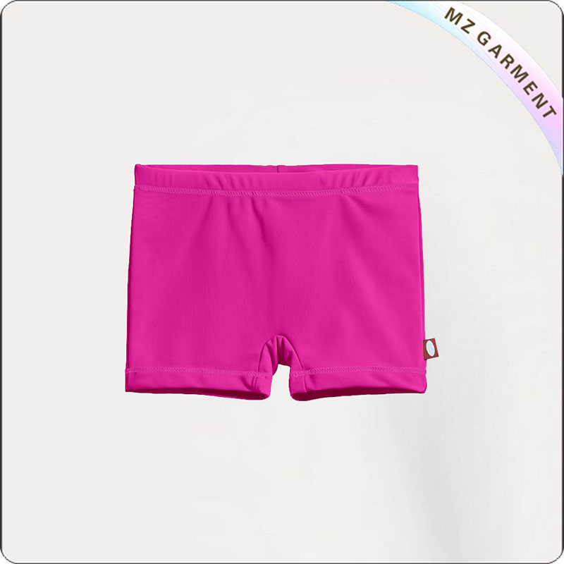 Girls Hot Pink Booty Shorts Swim