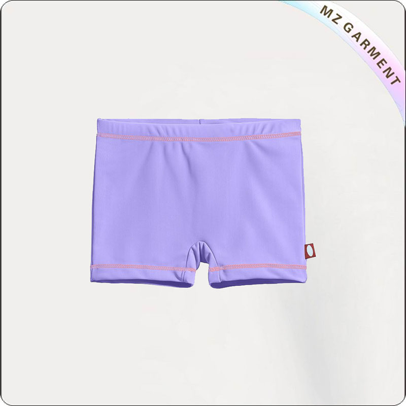 Girl Lilac Swim Boyshorts