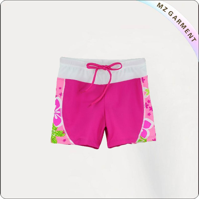 Girl Rosy Aqua Boyshorts