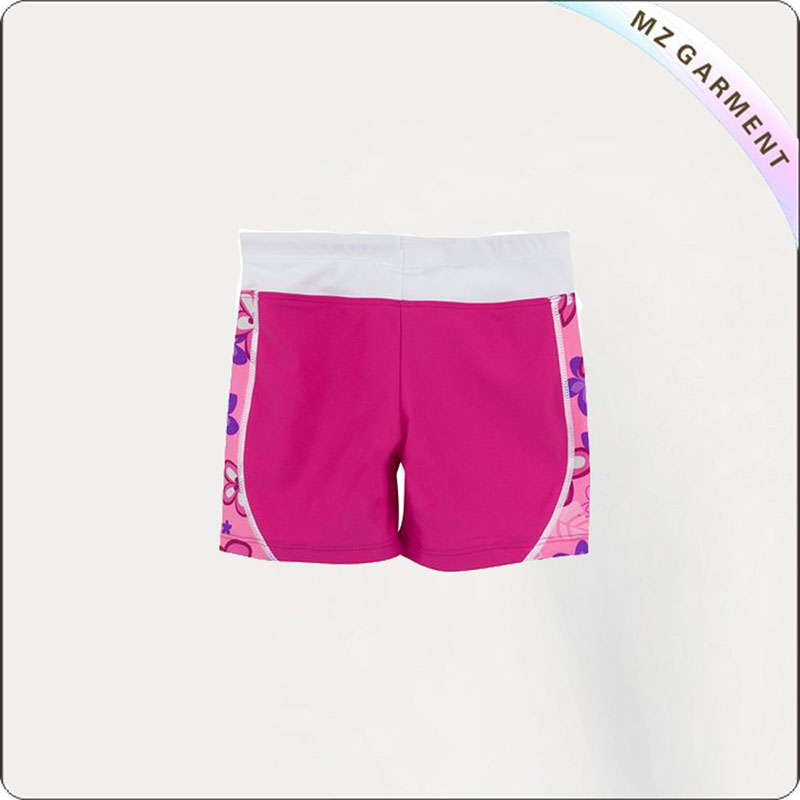 Girl Shocking Pink Aqua Booty Shorts