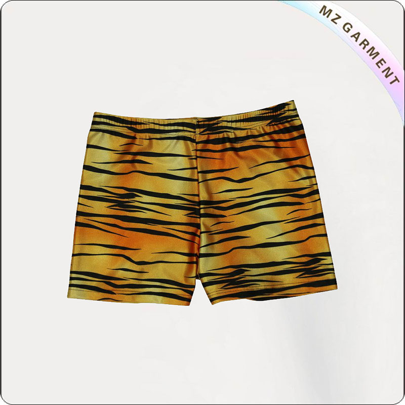 Girl Tyger Print Swim Boyshorts