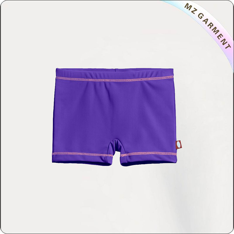 Girl Violet Swim Brief