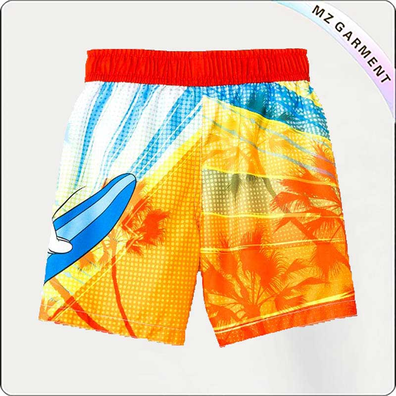 Boy Mickey Mouse Surf Trunks