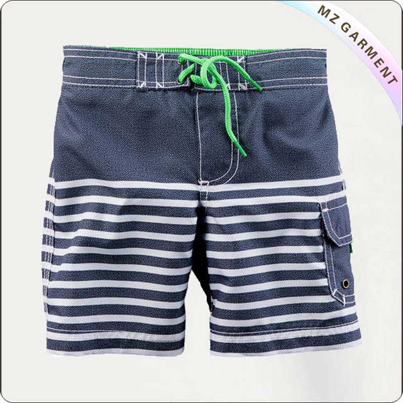 Boy Stripe Board Shorts