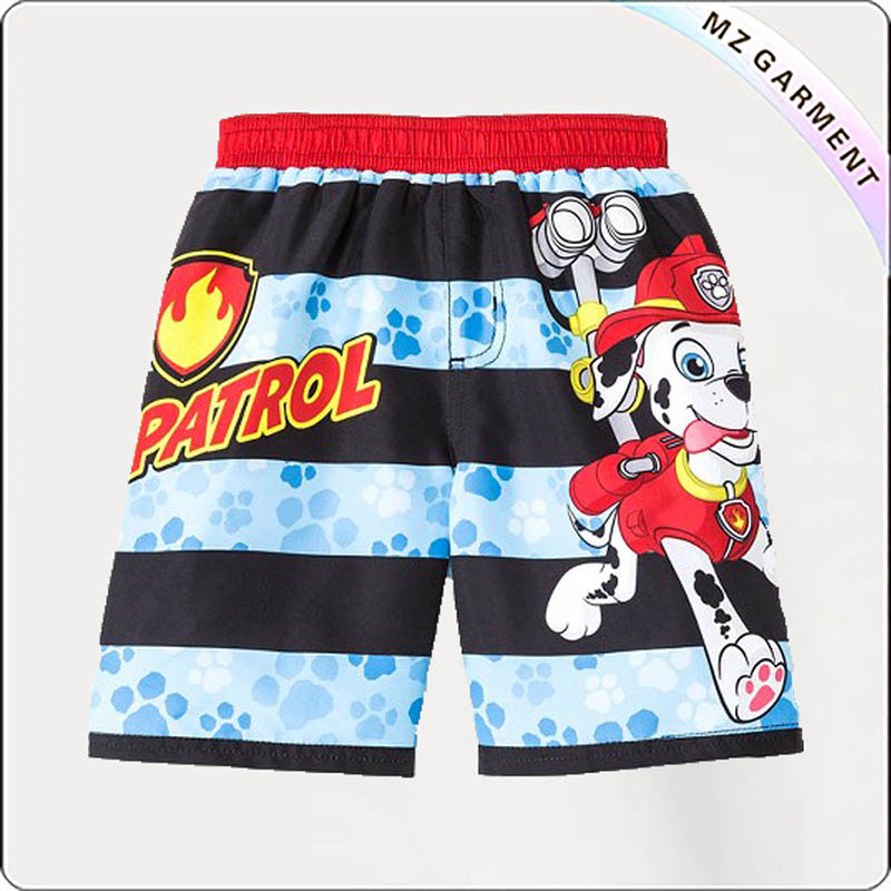 Boy Stripe Swim Trunks