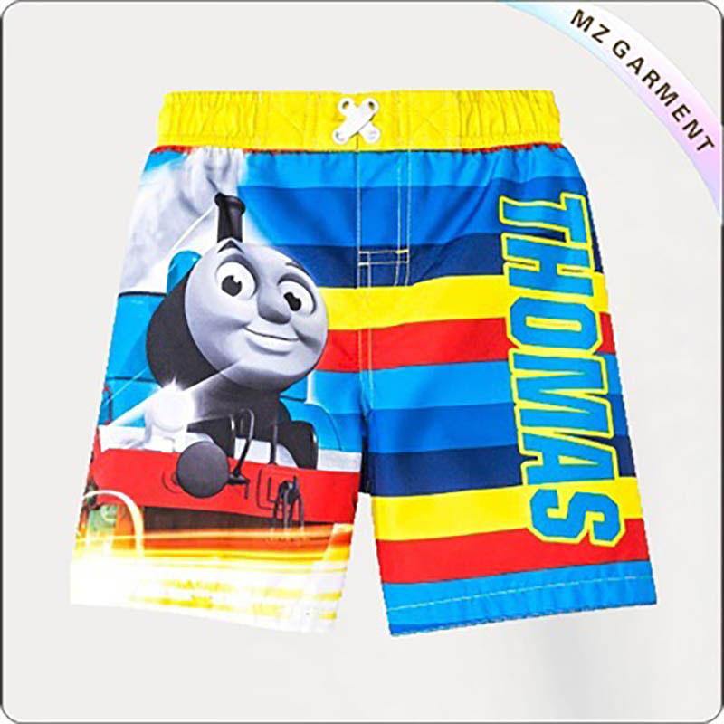 Boy Thomas Train Board Shorts