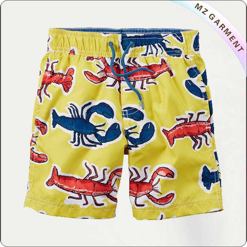 Boy Yellow Surf Trunks