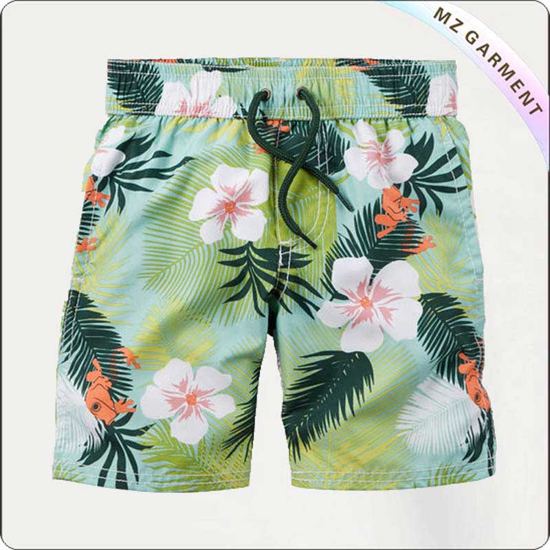 Boys Flower & Tree Beach Shorts