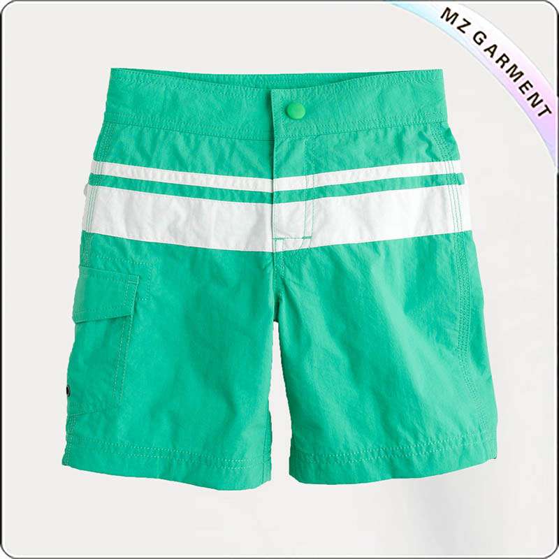 Boys Green Beach Short Pants