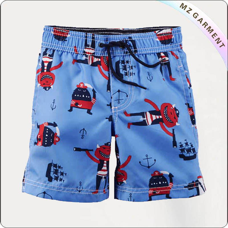 Boys Lavender Bathing Trunks