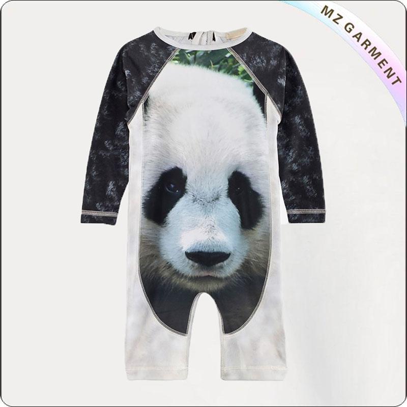 Boy Panda Sun Protective Romper