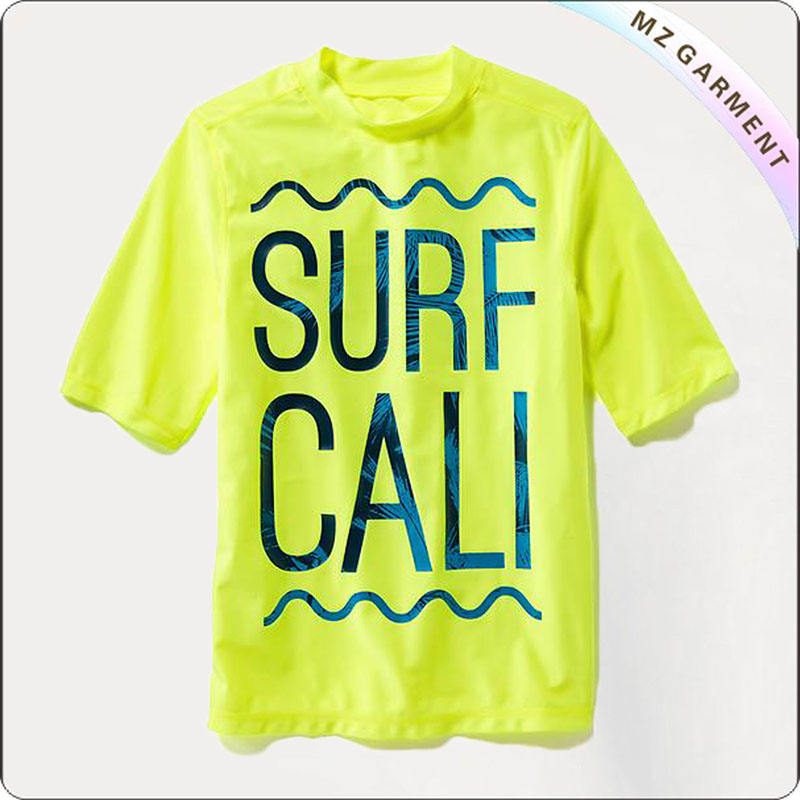 Boy Yellow UV-Blocking Rash Tee