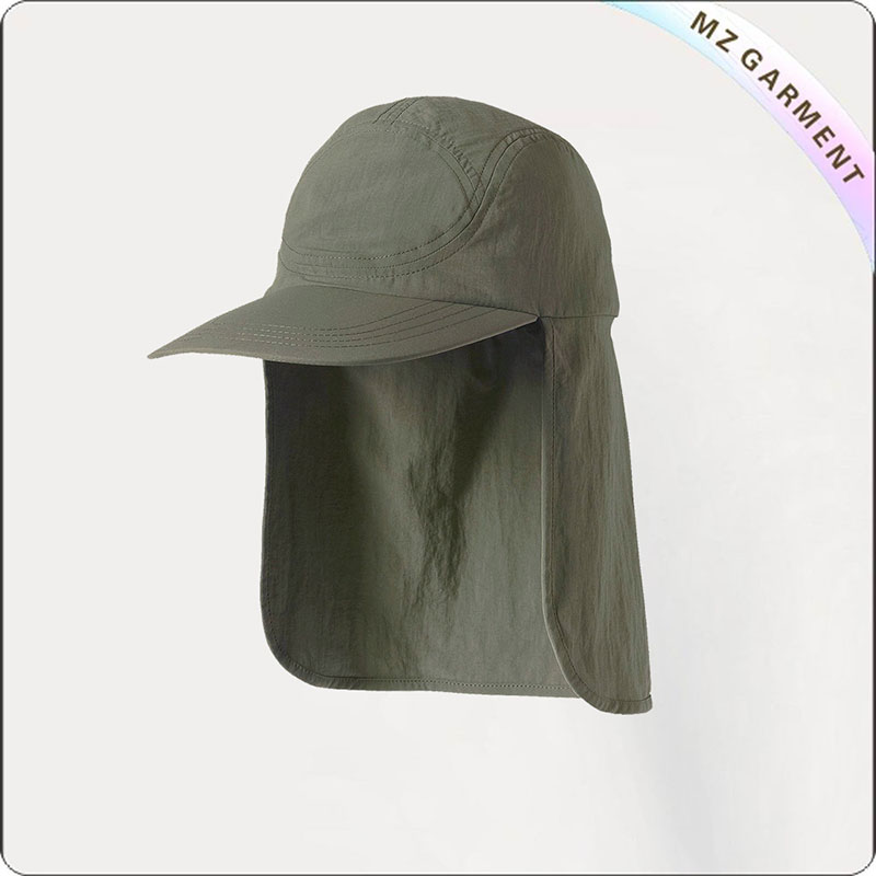 Kids Olive Green Flap Hat