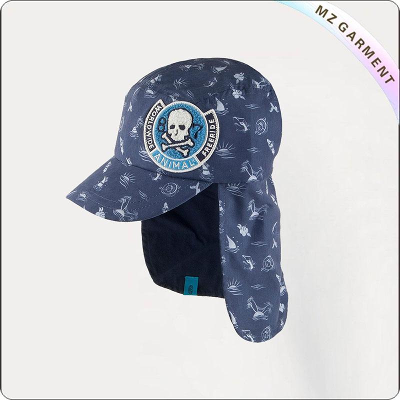 Kids Oyster Grey Sun Cap