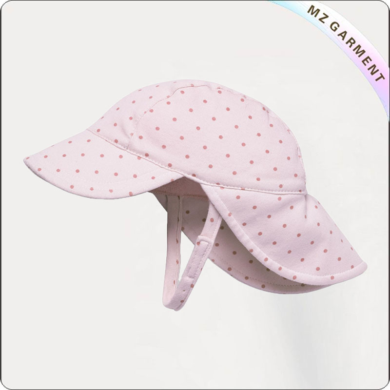 Kids Pink Dot Sun Cap