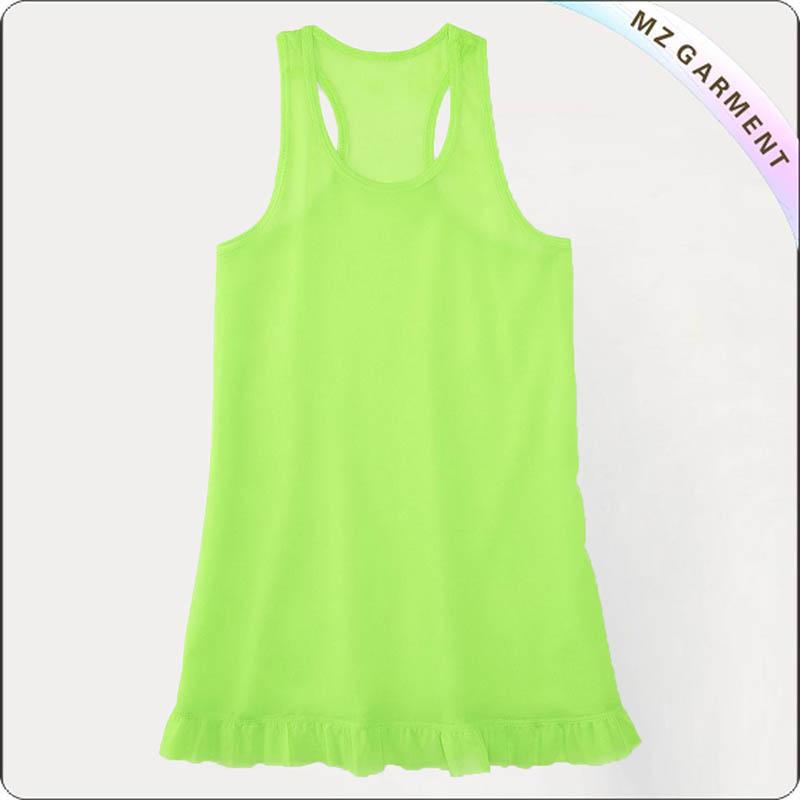 Kids Apple Green Swim Skirt