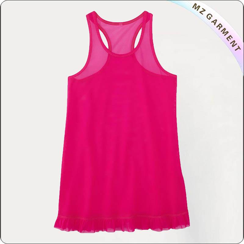 Kids Hot Pink Beach Dress