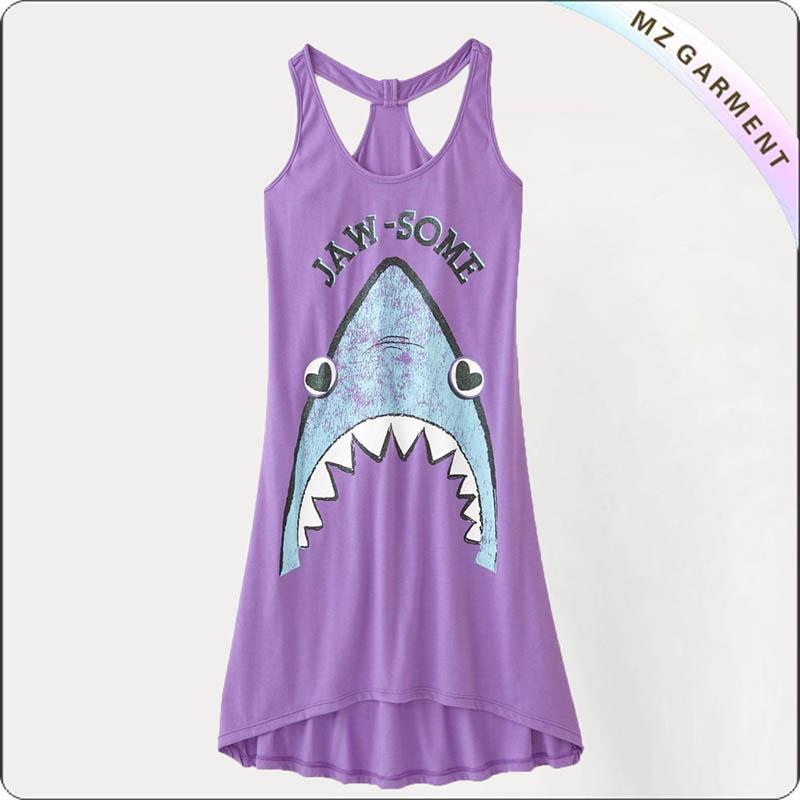Kids Lavender Beach Dress