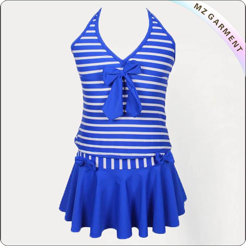 Kids Striped Swimming Dress