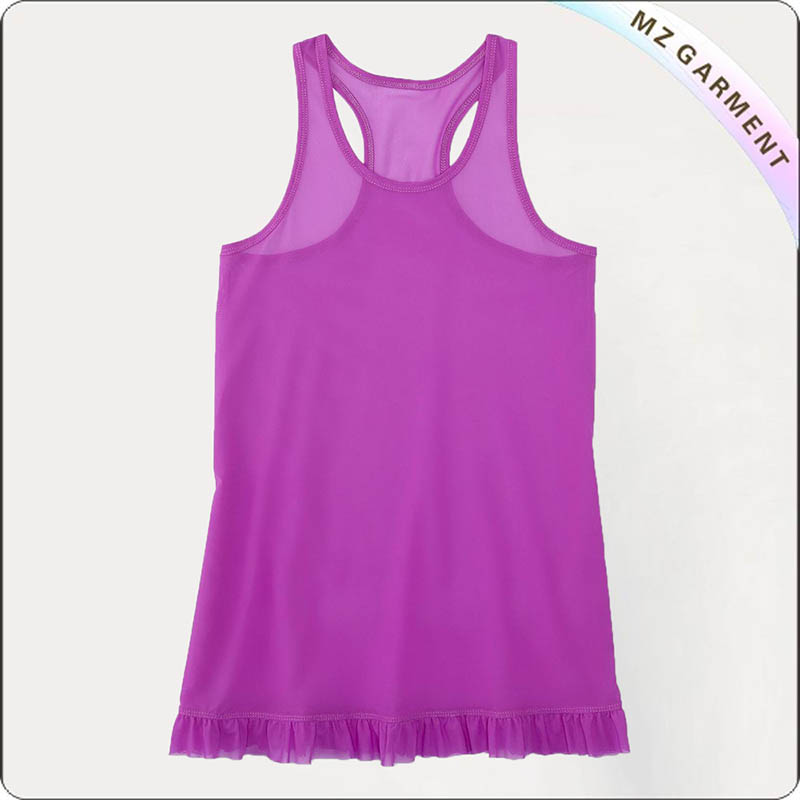 Kids Violet Skirted Swimsuit
