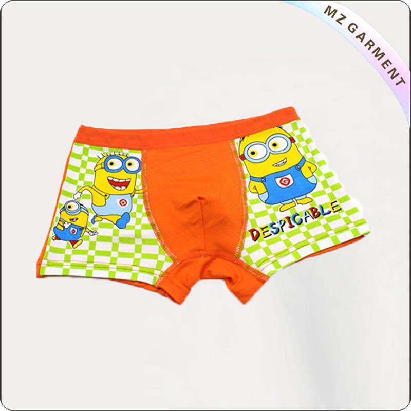 Boy Orange Breathable Swimming Brief