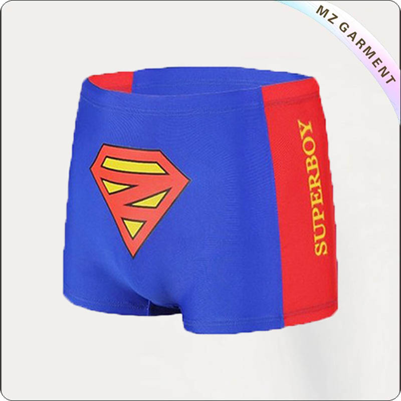 Boy Red & Blue Beach Shorts