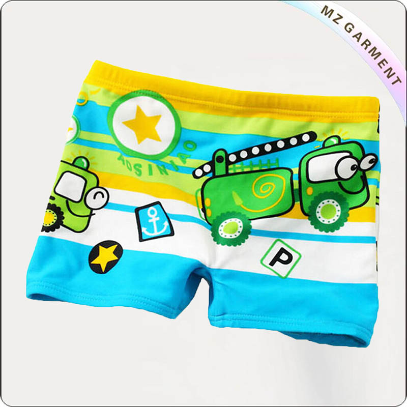 Boy Toy Car Swim Booty Shorts