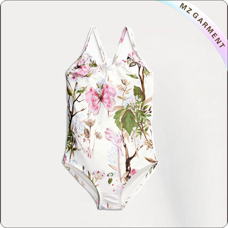 Kids Butterfly & Flower Wet Suit