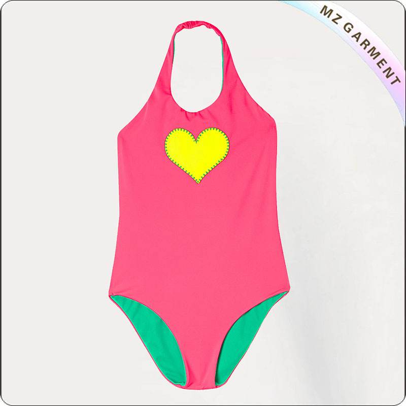Kids Heart One Piece Swimsuit