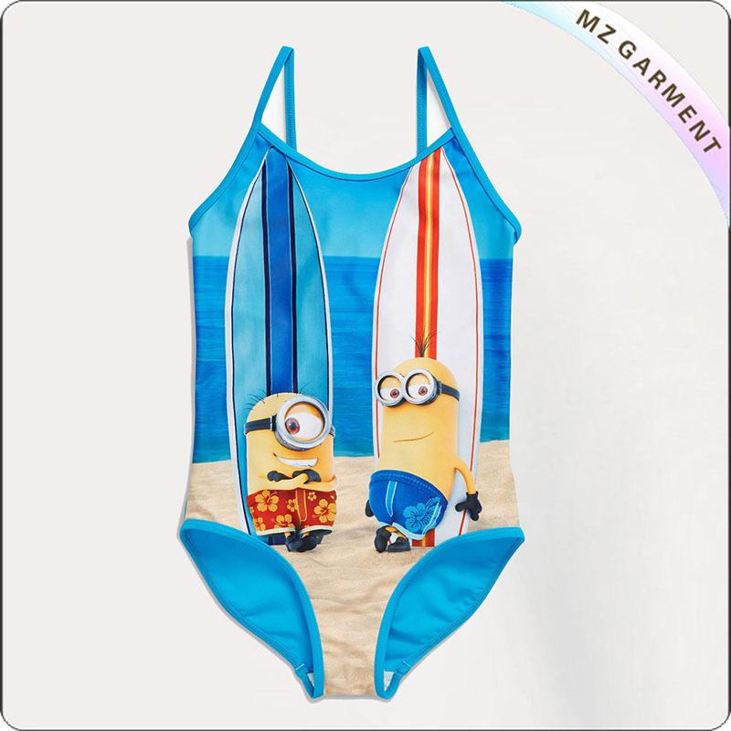 Kids Minions One Peice Swimsuit