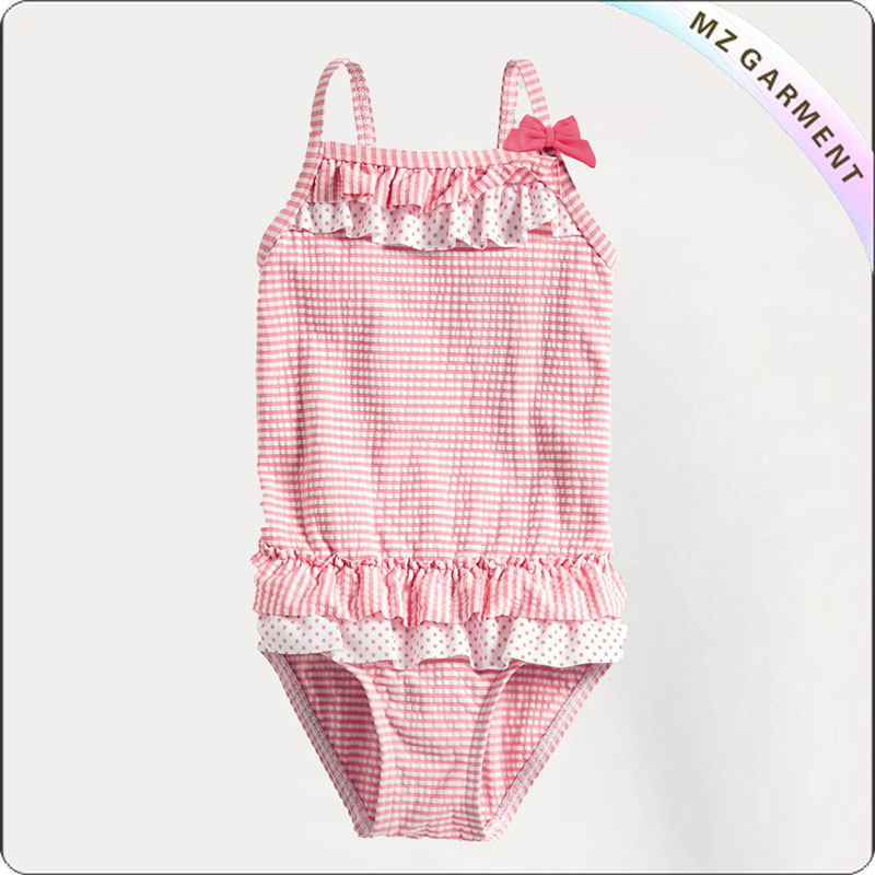 Kids One-Piece Lattice Swimwear