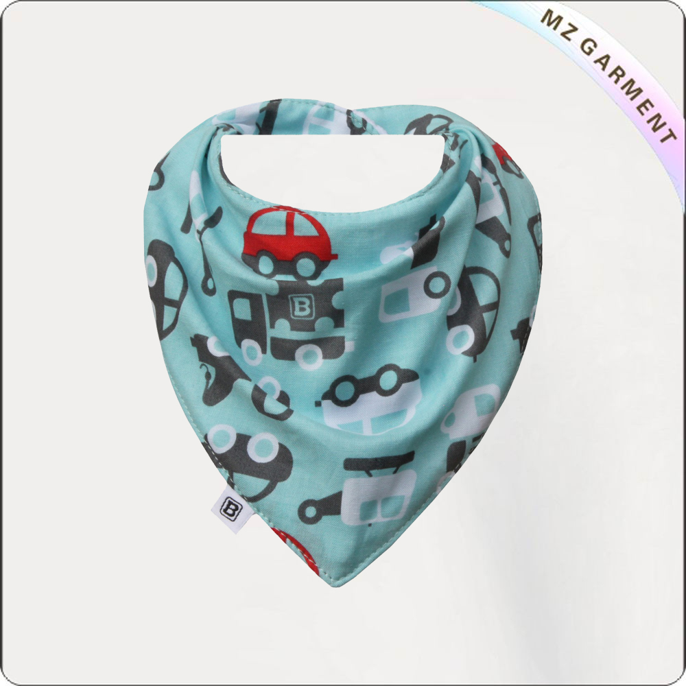 Kids Vehicles Drool Bib