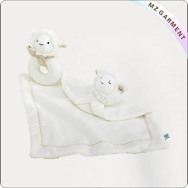 Girls White Lamb Rug